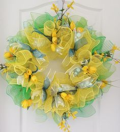 Check out this item in my Etsy shop https://www.etsy.com/listing/275632784/spring-wreath