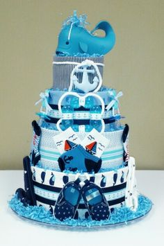 whale nautical theme diaper cake baby shower centerpiece gift i