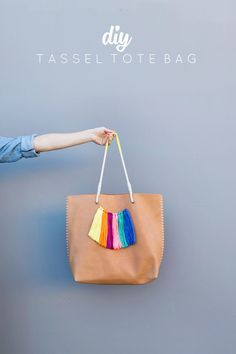 Learn how to make this super simple DIY tassel tote bag just in time for summer