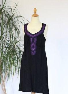 Kaufe meinen Artikel bei #Kleiderkreisel http://www.kleiderkreisel.de/damenmode/klassische-kleider/152843288-kleid-schwarz-lila-gr-s