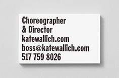 Illustrated Study Kate Wallich Business Card   ○ Studio: Shore   ○...
