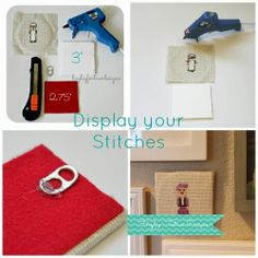 Hayley Fortner Designs: How to display your cross stitch pieces