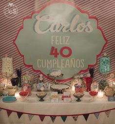"""Ya sabéis cual es nuestro lema, verdad? La vida es una fiesta…por qué no celebrarlo! Eva aplicó nuestro lema y no dudó en contactar con nosotras para celebrar el 40 cumpleaños de su marido Carlos. Iba a organizar una fiesta """"sorpresa""""."""