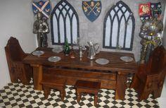 dolls house tudor medieval castle banquet