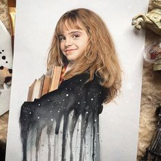 Drawing Harry Potter Art Hermione Granger 22 New Ideas Harry Potter Hermione, Art Harry Potter, Harry Potter Drawings, Harry Potter Characters, Harry Potter Universal, Harry Potter Fandom, Harry Potter Memes, Hermione Granger Drawing, Emma Watson