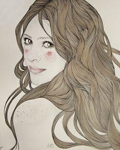 Portraits commissions by Mercedes deBellard, via Behance
