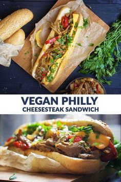 Vegan Philly Cheesesteak Sandwich - Even though the majority of Americans will disagree with me, I am taking my chances and I'm showing you today how to make the vegan version of the amazing Philly…More