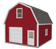 g524 20 X 24 X 10 Gambrel Garage Barn Plans PDF and DWG