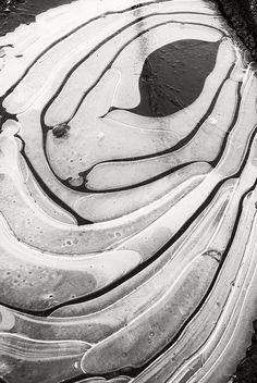 Frozen Puddle by frntprchprss on Flickr.