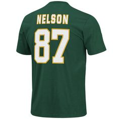 02730d9a6 Green Bay Packers Jordy Nelson  87 Men s Name  amp  Number T-Shirt at