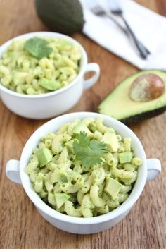 Easy Stovetop Avocado Mac and Cheese on www.twopeasandtheirpod.com