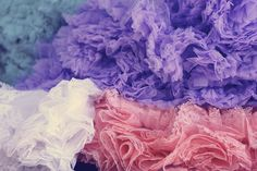 I love ruffles. How To Make Tutu, Color Collage, Ballet Costumes, My Boutique, Pink Roses, Color Inspiration, Headbands, Girly, Texture