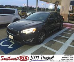 Congratulations to Geno Myers on your #Kia #Cadenza purchase from Clinton Miller at Southwest Kia Mesquite! #NewCar