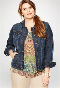 Plus Size Classic Denim Jacket | Plus Size Jackets & Blazers | Avenue
