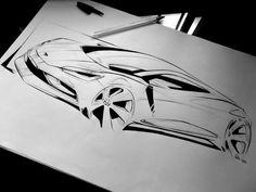 Raquel Villani #car#sketch
