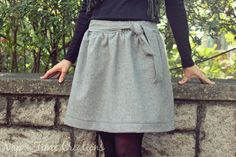 Gratis Damen Schnittmuster - Wool Skirt Pattern and Tutorial