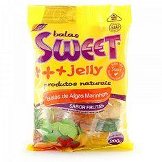 Bala mastigável a base de gelatina de algas marinhas (agar agar). As balas Sweet Jelly são deliciosas e 100% naturais.