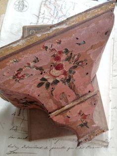 Louis XVI hand painted shelf FleaingFrance Brocante Society