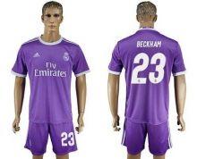 Real Madrid #23 Beckham Away Soccer Club Jersey