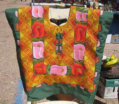 Huipiles of Oaxaca | Everyday huipile of tehuantepec
