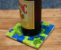 Father's Day Gift Kids Can Make -- Colorful Coaster Set