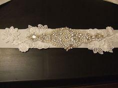 Wedding bridal Sash,Bridal dress belt bridal accessory CRYSTAL PEARL MOTIF belt