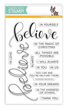 Simon Says Clear Stamps BELIEVE SSS101654 Believe In The Season zoom image