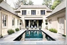 courtyard! a little too spare & cold looking but I love courtyards & pools!