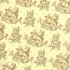 Floral Flourish Fleur de Lis Print Paper ~ Kartos Italy