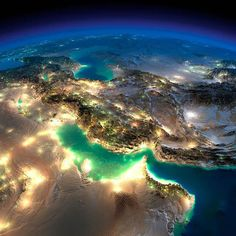 """ofthemoonandsea: """" coolthingoftheday: """" The Earth at night. Photographs taken by NASA. (Source) """" Get the fuck out of my face this is the coolest shit i've ever seen, do you realize how lucky we are. Earth And Space, Earth At Night, Day For Night, Cool Pictures, Cool Photos, Beautiful Pictures, Nasa Pictures, Nasa Photos, Amazing Photos"""