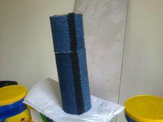 Estojo Jeans - Denin Toillet Roll - Lela Artes Artesanato - lelaartes2014@gmail.com