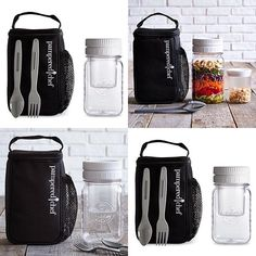 pamperedchef.biz/tamilynnwilson  Make & Take Mason Jar Set  Item #1439 Cost $27.50  Save $2 on the set!  The Make & Take Mason Jar Set is the perfect way to take your lunch (and a snack!) anywhere you go. This set includes the Make & Take Mason Jar, Snack Jar, and Carrier, plus a free spoon and fork.  Details  Make & Take Mason Jar  The jar has a 4-cup capacity. The two-part lid has a ¼-cup well for salad dressing or toppings. Includes a free spoon and fork. The measurement marks act as a…