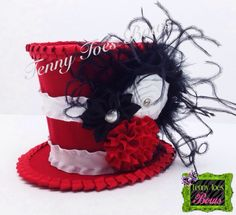 Cat in the Hat Inspired Mini Top Hat