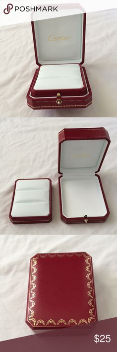 Cartier double ring box new condition New condition double ring box - only held wedding bands and then stored in a drawer unused.  Would be a lovely box to store jewelry or your treasures.  Does not come with jewelry :) Cartier Jewelry
