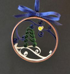Quilled Christmas ornament, handmade natural S - Quilling Paper Crafts Paper Quilling Tutorial, Paper Quilling Patterns, Quilled Paper Art, Quilling Paper Craft, Paper Crafts, Quilling Christmas, Christmas Crafts, Christmas Ornaments, Christmas Decorations