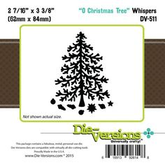 Die-Versions - Whispers - O'Christmas Tree