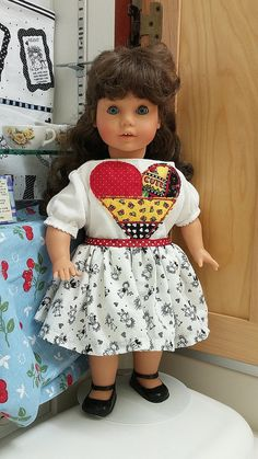 18 American Girl Doll Cloths Appliqued Heart T by stitchcottage