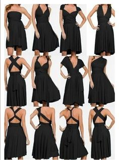 ed2282b1c2dc US $23.2 |Women Korean club Variety more worn sexy Bra wrapped chest halter dress  swing open infinity dress convertible dress tunique-in Dresses from ...
