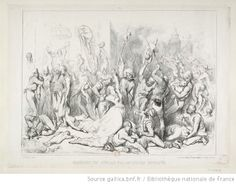 French illustration, Massacre of the English by the Hindu revolutionaries