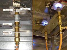 four à gaz, construction et calcul, bruleur air induit Forno A Gas, Gas Oven, Ovens, Ceramic Pottery, Air, Home Appliances, Construction, Calculus, Pottery