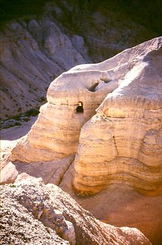 Qumran caves, site of the discovery of the Dead Sea Scrolls.