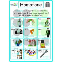 04. Laminated Poster - Language/Taal – Flash&Learn Education And Development, Kids Education, School Fun, Primary School, 2nd Grade Spelling Words, Afrikaans Language, Phonics Chart, 1st Grade Math Worksheets, Dutch Language