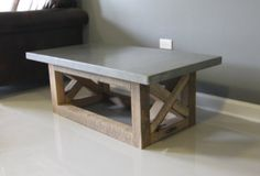 Concrete Coffee Table Reclaimed Wood Base in Lincoln Park, Chicago, IL, USA ~ Krrb