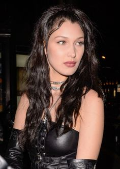 Bella Hadid arriving at the Chrome Hearts x Bella after party in Paris, France