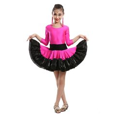 >> Click to Buy << Children's Latin Dance Kid's Latin Skirt&tutu Stage Dance Wear Child Latin Dance Competition Dresses Suit for Height 110-160cm 8 #Affiliate