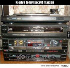#kwejk #ciekawostka Boombox, Sound Of Music, Audiophile, Vintage Advertisements, Classic, Tech, Nikon, Russia, Memories