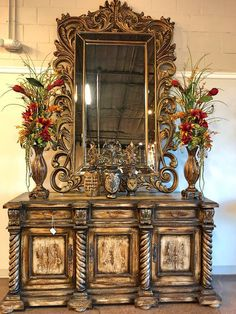 Tuscan Style Decorating, Foyer Decorating, Tuscan Furniture, Home Decor Furniture, Diy Home Decor Bedroom, Playroom Decor, Tuscan Dining Rooms, Tuscan Colors, Retro Dining Table