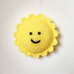 Free crochet pattern for a cute little Sun - perfect for a wall hanging, mobile or other make!