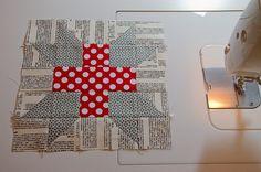 Greek Cross block by RhubarbPatch(Anita Peluso), via Flickr