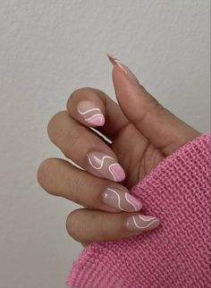 Frensh Nails, Swag Nails, Manicures, Pink Tip Nails, Pink White Nails, Cute Gel Nails, Pink Blue, Simple Acrylic Nails, Best Acrylic Nails